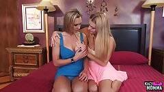 Busty stepmom seduced by pussylicking teen